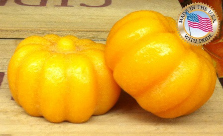 YELLOW RUBBER MOLD - 4 Cavity Pumpkins 1.75